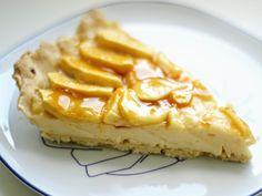 Tarta de manzana con crema pastelera | La encimera azul