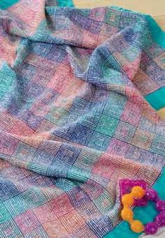 Weaving for Baby: Three Tips for Baby Projects 2019 Handwoven editor Anita Ost… – 2019 - Blanket Diy Weaving Designs, Weaving Projects, Weaving Patterns, Loom Weaving, Hand Weaving, Wooden Baby Blocks, Cotton Clouds, Cotton Blankets, Baby Blankets