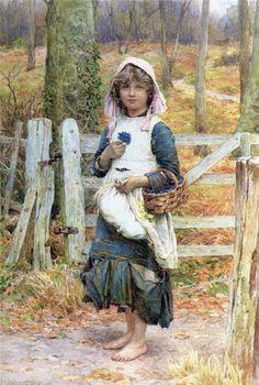 Henry James Johnstone, Girl with violets