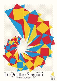 New Philharmonic poster series Season five, Serhiy Chebotaryov - Kiev, on Behance