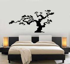 Japanese Bonsai Tree Nature Decor Japan Island Wall Sticker Vinyl Decal (m612)