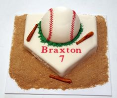Baseball cake idea for Philip