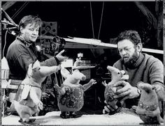 Oliver Postgate and Peter Firmin film The Clangers 1968 Museum Of Childhood, V & A Museum, Kingdom Of Heaven, The V&a, Television Program, Victoria And Albert Museum, Old Tv, Storytelling, The Creator