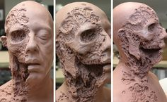 Inside Gus Fring's Explosive Moment On 'Breaking Bad' Special Makeup, Special Effects Makeup, Gus Fring, Human Body Activities, Facial Anatomy, Bad Makeup, Prosthetic Makeup, Traditional Sculptures, Famous Sculptures