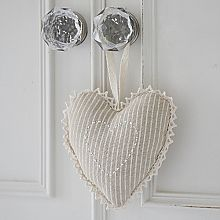 Natural Hanging Heart-Stripes