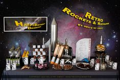Sweet Parties: Retro Space, Rocket Ships & Ray-guns Dessert Table — Hello My Sweet