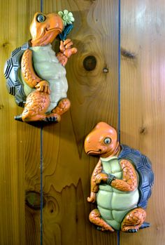 Vintage Turtle Couple Wall Decor by ThreeBillyGoatsStuff on Etsy