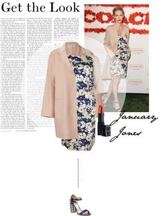 """""""Get the Look: January Jones"""" by sarapina ❤ liked on Polyvore"""