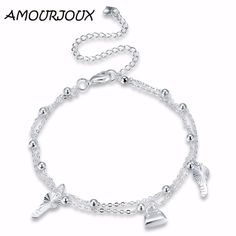 Like and Share if you want this  AMOURJOUX Lock Shaped Charm Silver Plated Anklets For Women Ankle Bracelet On The Leg Anklet Silver Foot Jewelry     Tag a friend who would love this!     FREE Shipping Worldwide     Get it here ---> http://jewelry-steals.com/products/amourjoux-lock-shaped-charm-silver-plated-anklets-for-women-ankle-bracelet-on-the-leg-anklet-silver-foot-jewelry/    #style