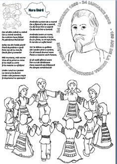 24 IANUARIE - Ziua Principatelor Române Teacher Supplies, 1 Decembrie, Early Education, School Lessons, Christmas Colors, Nursery Rhymes, Coloring Pages, Activities For Kids, Kindergarten