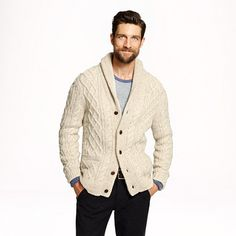 J.Crew - Donegal wool cable cardigan
