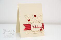 Stampin Up Einladung Lattice Elegantes Gitter Dekoratives Etikett Geburtstagswunsch Itty Bitties Elfenbein  _
