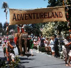 What I wouldn't give to see a real live elephant at Disneyland! And of course I say this as though there is nothing else to see there as it stands. Disneyland Parade, Vintage Disneyland, Disneyland Resort, Disneyland History, Disneyland Secrets, Disney World Florida, Disney Parks, Walt Disney World, Disney Cast