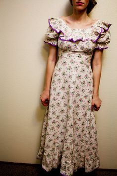 Vintage 1950's Patterned Dress by SimpleandTimeless on Etsy, $75.00