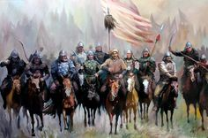 Genghis Khan and his Mongol horde