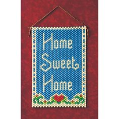 Home Sweet Home Beaded Banner