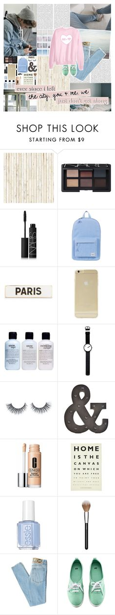 """""""You got me stressed out ;"""" by americancvndy ❤ liked on Polyvore featuring Oris, NLXL, NARS Cosmetics, Herschel Supply Co., Rosanna, Sonix, philosophy, Rosendahl, Clinique and Ulster Weavers"""