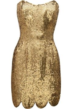 RACHEL GILBERT - Lexi sequined mini dress.
