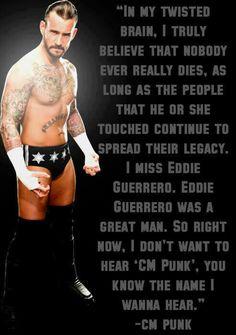 CM Punk speaking about Eddie Guerrero Watch Wrestling, Wrestling Stars, Wwe Quotes, Punk Quotes, Qoutes, Cm Punk Aj Lee, Eddie Guerrero, Nxt Divas, Why I Love Him