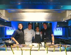 gimemories Gala Dinner at Fuentes Culinary Theatre. Chef Julio Gomez Fraile,  Moisés Ortíz,  JFW Chef Lucia Gama and JFW Winemaker Erick Johannsen