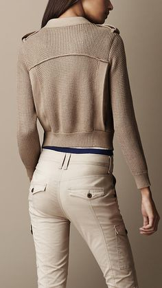Cotton Silk Knitted Jacket | Burberry