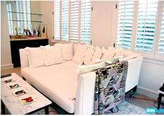 What a couch... - From Rachel Zoe's home