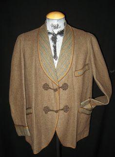 Original early 1900's american camel color wool smoking jacket