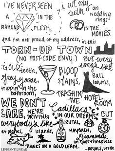 Lorde Lyrics - ROYALS Olivia loves this song too! Lorde Lyrics, Song Lyric Quotes, Lyric Art, Music Lyrics, Music Quotes, Lorde Quotes, I Love Music, Music Is Life, Lyric Drawings