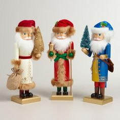 One of my favorite discoveries at WorldMarket.com: Old-World Santa Nutcrackers , Set of 3