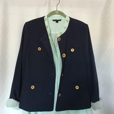 KASPER Petites Size 10P NWOT navy blue ,size 10P fits good to size Kasper  Jackets & Coats