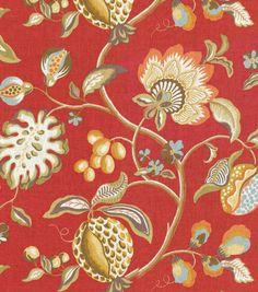Upholstery Fabric-Brighton Scarlet