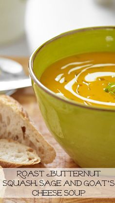Roast Butternut Squash, Sage and Goat's Cheese Soup - In The Playroom
