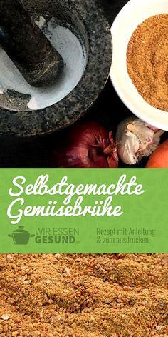 Selbstgemachte Gemüsebrühe (Rezept) | Wer nicht auf Hefeextrakt oder gar Glutamat steht, der kann damit aus frischem Gemüse einfach seine Gemüsebrühe selber machen. | Wir-Essen-Gesund.de
