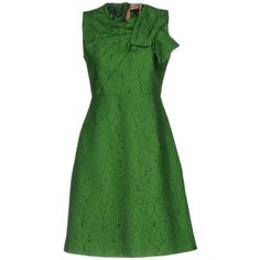 N° 21 Short Dress (32.720 RUB) ❤ liked on Polyvore featuring dresses, green, sleeveless dress, green sleeveless dress, short green dress, lace mini dress and green lace dress