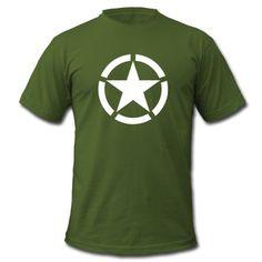Broken Ring White Star National Symbol T-Shirt | Spreadshirt | ID: 12951470