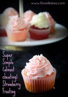 Super Simple (almost cheating) Strawberry Frosting