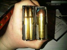 5.56 compared to the. 50 cal. Beowulf rounds