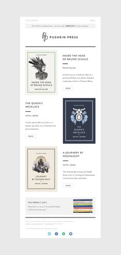 Pushkin Press - Email Template on Behance