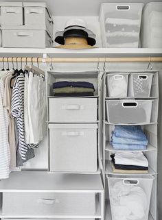 Genius Closet Organizing Ideas From Target's New Made by Design Line. closet organization tips Target's new Made by Design line beautifully solves so many little life annoyances. Read on for closet organizer ideas and some super smart home pieces. Apartment Closet Organization, Wardrobe Organisation, Closet Storage, Organization Hacks, Organizing Ideas, Bedroom Organization Tips, Target Organization, Attic Storage, Kitchen Organization