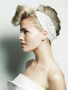 キャサリン・ヘップバーンにヒントを得たリーゼント風アップヘア/Side Make Art, How To Make, Pin Up Style, Salons, Hair Makeup, Hairstyle, Wedding, Fashion Hair, Beauty
