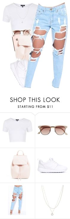 """these jeans "" by daisym0nste ❤ liked on Polyvore featuring Topshop, Witchery, NIKE and ASOS"