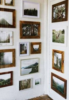 art trends gallery wall with landscape paintings