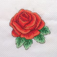 Red Rose Cross Stitch Pattern by CrossStitchSusie on Etsy