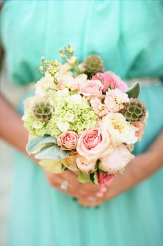 Rustic bridesmaid bouquet: http://www.stylemepretty.com/alabama-weddings/2014/09/15/heirloom-alabama-wedding-at-creekside-plantation/   Photography: White Rabbit - http://thewhiterabbitstudios.com/