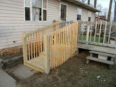 Functional Homes: Universal Design for Accessibility: ADA: Walker (Handicap) Stairs instead of a Wheelchair Ramp