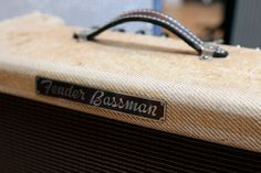 LUNCHTIME GEAR LUST - 1956 FENDER BASSMAN    We spied this handsome Fender amplifier at Vintage and Modern Guitar Shop yesterday. It's in great shape for its age and is all original apart from the handle (although the original is included), and sounds unbelievable! The worn tweed just drips cool vibes, too!