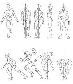 Human Figure Sketches, Human Figure Drawing, Figure Sketching, Figure Drawing Reference, Art Reference Poses, Anatomy Sketches, Drawing Sketches, Cartoon Drawings, Basic Drawing