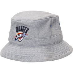 Oklahoma City Thunder Mitchell & Ness Logo Fleece Bucket Hat - Gray - $31.99