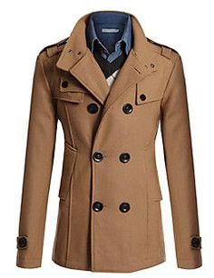 39.09  Men s Daily   Work   Weekend Winter Long Coat 88d796608