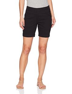 Jag Jeans Womens Petite Ainsley 7 Pull on Short Black >>> See this great product. (This is an affiliate link) Spring Shorts, Women's Shorts, Bermuda Shorts, Leggings, Jeans, Link, Image, Shoes, Fashion